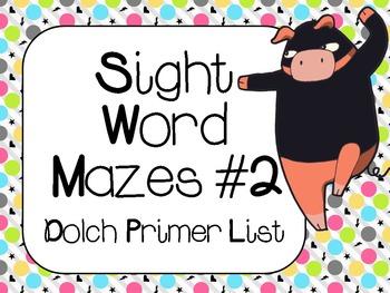 Sight Word Mazes Set #2