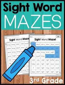 Sight Word Mazes - Third Grade