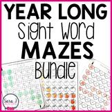 Sight Word Mazes Year Long GROWING Bundle