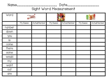 Sight Word Measurement