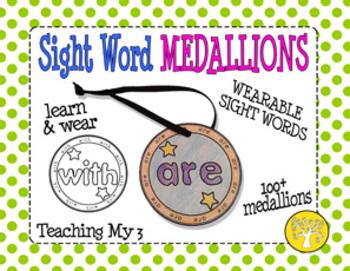 Sight Word Medallions Set 1 PLUS Color Words!