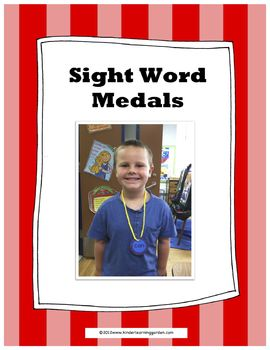 Sight Word Medals