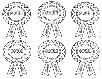 Sight Word Medals First Grade Edition