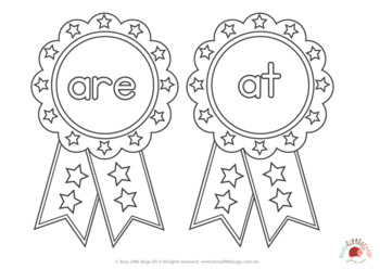 Sight Word Medals Primer