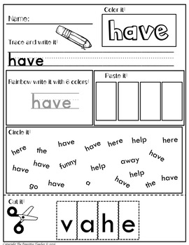 Sight Words Mega Bundle