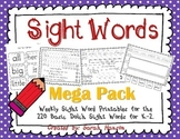 Sight Word Mega Pack (35 Weeks of Sight Word Instruction)