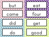 Sight Word Cards: Chevron (Dolch & Fry)