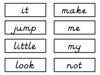 Sight Word Cards: Inksaver, D'Nealian Font (Dolch & Fry)