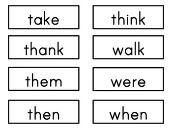 Sight Word Cards: Inksaver (Dolch & Fry)