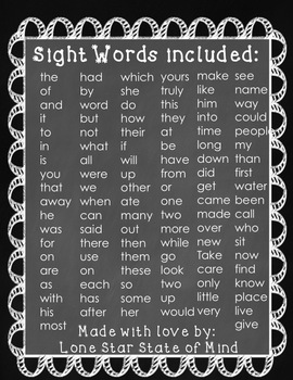 Sight Word Set