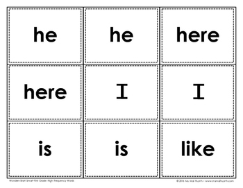 Sight Word MEMORY (Wonders Start Smart)