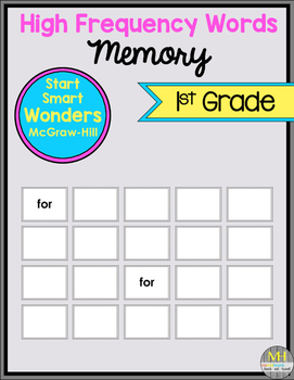Sight Word MEMORY (Wonders Start Smart)
