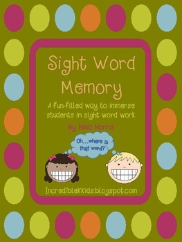 Sight Word Memory - 100 top words