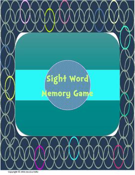 Sight Word Memory