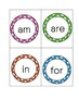Sight Word Memory Cards (Set 1)