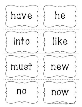 Sight Word Memory Cards: Primer for Kindergarten and First Grade
