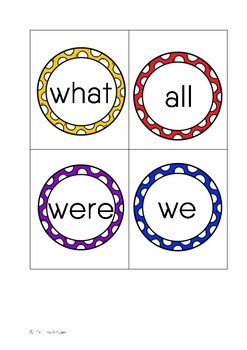 Sight Word Memory Cards (Set 2)