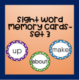 Sight Word Memory Cards (Set 3)