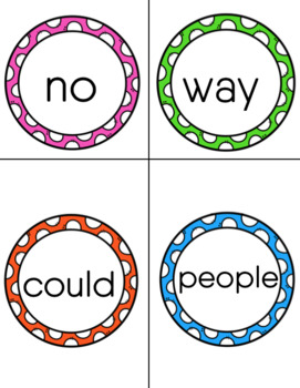Sight Word Memory Cards (Set 4)
