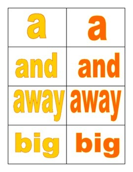 Sight Word Memory Game (Dolch Words)