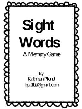 Sight Word Memory, List 1
