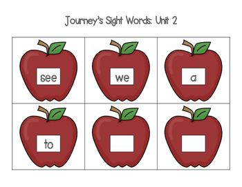 Sight Word Memory Match {Based on Journey's K Order of Instruction}