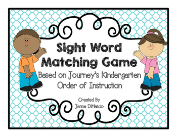 Sight Word Memory Match {Based on Journey's K Order of Ins