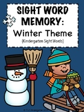 Sight Word Memory: Winter Theme