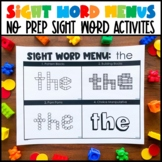 Sight Word Menus (1-300)