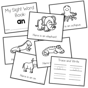 Sight Word Mini Book:  An