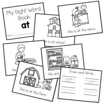 Sight Word Mini Book:  At