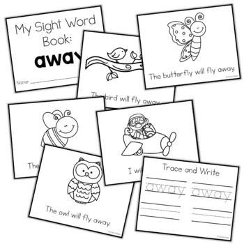 Sight Word Mini Book:  Away