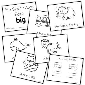 Sight Word Mini Book:  Big
