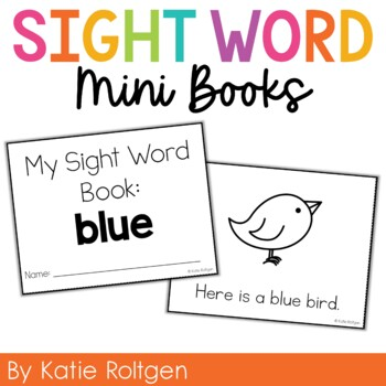Sight Word Mini Book:  Blue