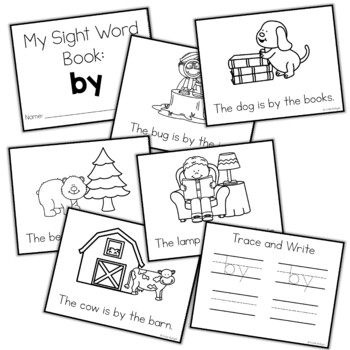 Sight Word Mini Book:  By