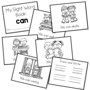 Sight Word Mini Book:  Can