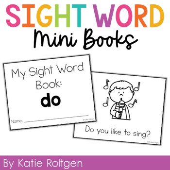 Sight Word Mini Book:  Do