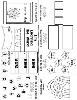 Sight Word Mini Book FREE Sample
