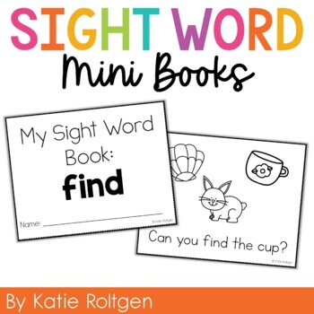 Sight Word Mini Book:  Find