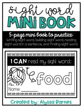 Sight Word Mini Book: Food