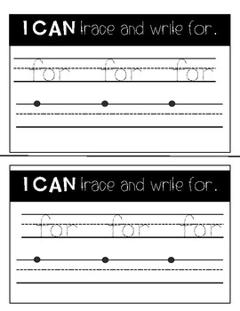 Sight Word Mini Book: For
