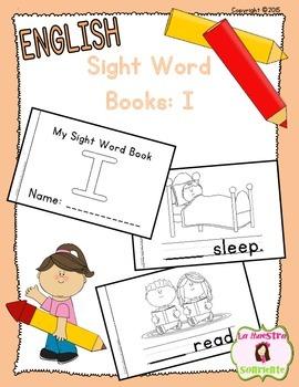 Sight Word Mini Book Freebie: I (English)