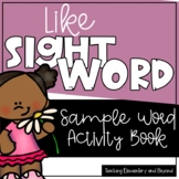 Sight Word Printable Book Freebie for like