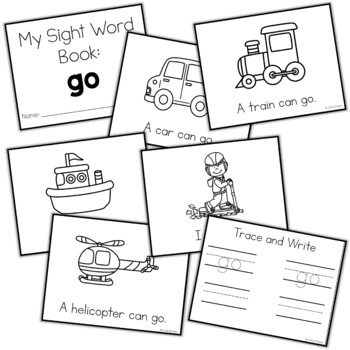 Sight Word Mini Book:  Go