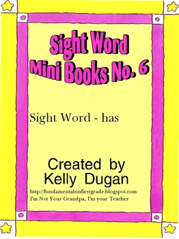 Sight Word Mini Book - Has