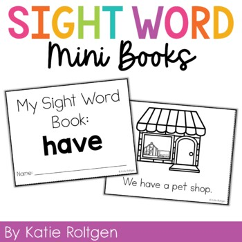 Sight Word Mini Book:  Have