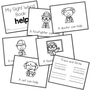 Sight Word Mini Book:  Help