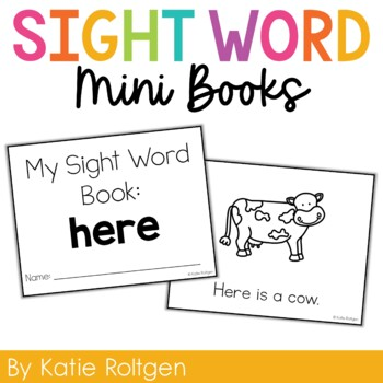 Sight Word Mini Book:  Here
