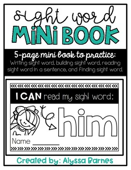 Sight Word Mini Book: Him