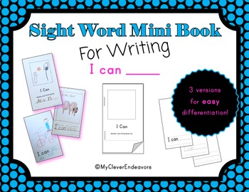 Sight Word Mini Book - I Can